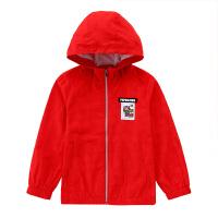 【2件5.5折到手价:142】小猪班纳童装男童宽松连帽外套2020春秋新款儿童高领红色拉链衫