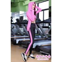 健身房瑜伽服套装韩版女长袖显瘦运动跑步服速干户外健身服三件套