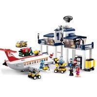 【当当自营】小鲁班新航空天地系列儿童益智拼装积木玩具 民航维修基地M38-B0373