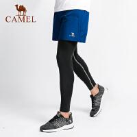 camel骆驼健身男短裤秋吸湿排汗舒适松紧干爽健身训练晨跑两件运动长裤