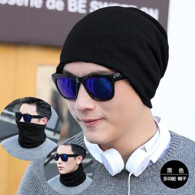 男士帽子套头帽男包头帽韩版堆堆帽户外休闲纯色帽男式围脖套