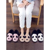 韩版一家三口居家保暖拖鞋 亲子卡通可爱棉拖鞋 新款包跟女厚底室内防滑棉鞋