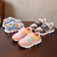 乌龟先森 儿童运动鞋 那女童网布透气字母休闲鞋秋季韩版新款时尚老爹鞋中大童款式鞋子