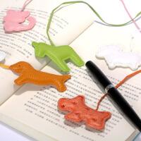 精品动物皮革书签 当当自营 6个全套盒  镂空创意高档金属书签套盒中国风韩国书签 精美卡通可爱书签纸