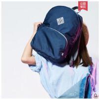 韩版包包户外双肩休闲包可折叠双肩收纳包 旅行小背包双肩包 防水运动