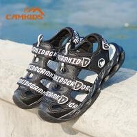 【618大促-每满100减50】Camkids男童鞋子儿童凉鞋2018夏季新款中大童男童凉鞋包头沙滩鞋