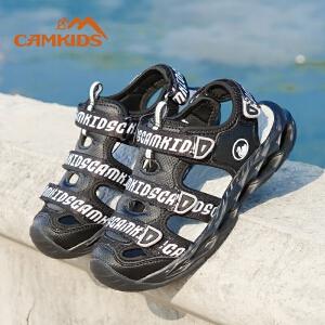 Camkids男童鞋子儿童凉鞋2018夏季新款中大童男童凉鞋包头沙滩鞋