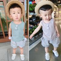 宝宝衣服夏装0123岁男一岁宝宝套装夏季男婴儿衣服背心两件套婴儿