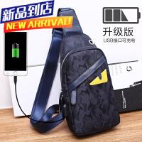 胸包男包韩版潮腰包帆布2018新款单肩包斜挎包男士包包背包
