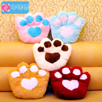 咔噜噜 熊掌靠垫 泰迪熊脚掌抱枕 靠垫 大号毛绒玩具 创意布娃娃 女生生日礼物 情人节礼物