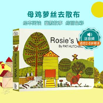 英文原版绘本 母鸡萝丝去散步 Rosie's Walk 萝丝去散步 纸板书 廖彩杏有声书单 撕不烂书 送音频