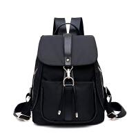 中年妈妈女包尼龙帆布旅行包双肩包包休闲中老年女士韩版旅游背包 黑色