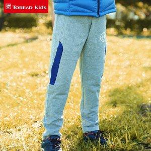 探路者童装 2017秋冬男童旅行针织卫裤