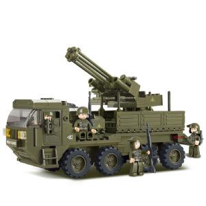 【当当自营】小鲁班陆军部队2军事系列儿童益智拼装积木玩具 重型运输车M38-B0302