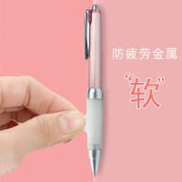 日本进口uni三菱SXN-1000金属杆重手感中油笔Jetstream抗手防疲劳水笔软握胶笔0.7mm圆珠笔可换0.5