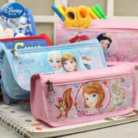 迪士尼小学生笔袋1-6年级儿童男女公主米奇汽车铅笔盒文具盒