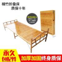 单人床1.2米折叠床单人 木板床 竹床夏天竹板加宽省空间加固加厚