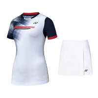 2018yy新款羽毛球服套装女款速干比赛队服定制运动裙裤短袖T恤 夏