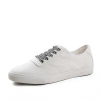 帆布鞋女 学生韩版平底小白鞋系带板鞋女 原宿百搭ulzzang鞋