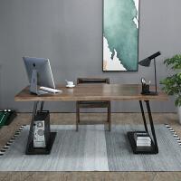 美式实木办公桌工业风电脑桌台式家用办公室北欧书桌老板桌主管桌