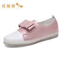 红蜻蜓秋季新款潮流时尚自由舒适圆头平底单鞋女