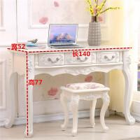 20190901131540954欧式电脑桌台式家用田园书桌学习桌现代简约写字台实木梳妆台白色