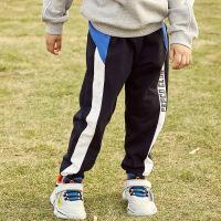 小猪班纳童装男童运动裤纯棉2020春季新款中大儿童针织裤长裤弹力
