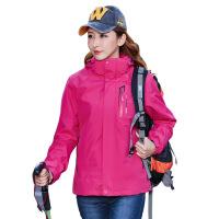 三合一户外冲锋衣男女情侣款两件套登山服防风防水
