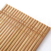 双枪创意竹筷家用无漆无蜡碳化筷子厨房日式餐具套装10双装DK1004