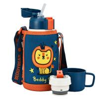 儿童保温杯带吸管杯具熊旗舰店新款两用水杯水壶小学生幼儿园便携