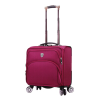 新款男士拉杆箱万向轮18寸商务休闲牛津布旅行箱女士时尚小布箱潮 18寸