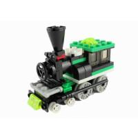 积木拼装小火车模型益智力儿童玩具塑料拼插万格交通小颗粒积木