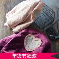 自留推荐~女童丝绒加棉外套 2017冬装新款韩版爱心加厚夹克棉衣潮