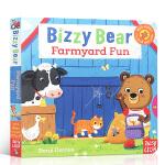 预售 顺丰发货 英文原版绘本 Bizzy Bear Fun on the Farm 繁忙的小熊:开心农场上 儿童机关抽