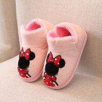 儿童居家棉拖鞋男童女童软底保暖防滑棉鞋宝宝小孩包跟室内拖鞋