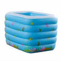 充气水池婴儿澡盆保温加大加厚儿童游泳池婴儿戏水池婴儿游泳池儿童戏水池 蓝色 110*88*75CM