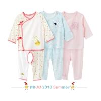 【刚到!】婴儿秋衣服新生儿内衣套装宝宝和尚服纯棉春秋装