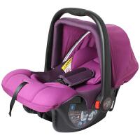 【当当自营】英国zazababy新生儿汽车用安全座椅 车载车用婴儿宝宝提篮式摇篮座椅 葡萄紫