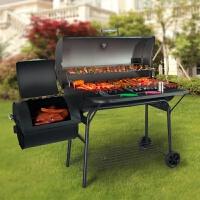 木炭大型烧烤炉 家用户外加厚碳烤烧烤架子 庭院烟熏美式烟熏BBQ新品