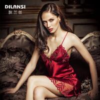 DILANSI狄兰丝女士重磅真丝吊带裙睡衣D-1053