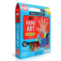 英文原版绘本书 My Hand Art 我的手工艺术 亲子互动游戏玩具书 启发0-3岁孩子创造思维智力 美国进口Klu