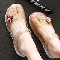 夏季凉鞋女花园果冻洞洞鞋坡跟厚底女鞋包头凉拖鞋女子儿童凉鞋