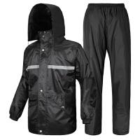 龙豹 LB0016双面穿 电动车摩托车 分体式雨衣雨裤套装 时尚雨披双层加厚