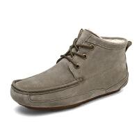 老北京布鞋冬季复古中老年男棉鞋加绒保暖防滑轻软高帮加厚休闲鞋棉鞋