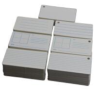 画线卡空白卡片英语单词英文字母拼音田字格留言卡手绘写纸卡涂鸦卡