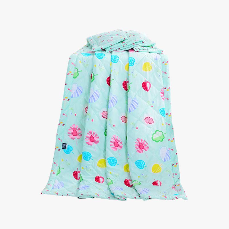 当当优品家纺 可水洗印花夏凉被 200x230双人空调被 草莓甜心绿当当自营 柔软透气 水洗机洗不变形