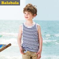 巴拉巴拉男童背心中大童无袖上衣童装夏季儿童莫代尔背心