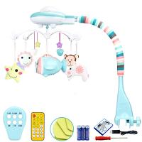 婴幼儿童玩具床铃 新生儿玩具益智旋转音乐摇铃 床头铃床挂布艺宝宝玩具0-1岁礼盒装 飞机
