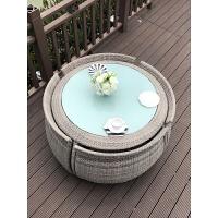 户外桌椅室外庭院藤椅三五件套台小茶几组合家用圆桌椅子休闲