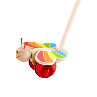 Hape蝴蝶推推乐1-6岁学步系列儿童益智木制玩具婴幼玩具拖拉学步